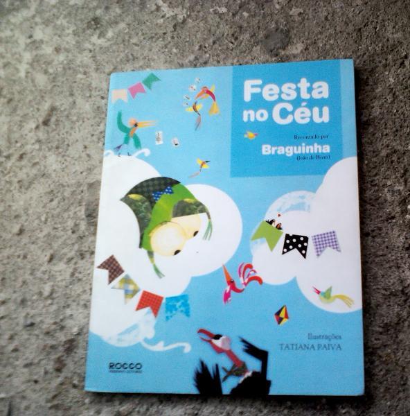 livro impresso festa no ceu